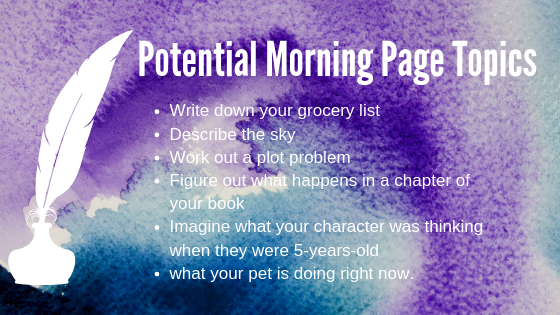morning pages topics